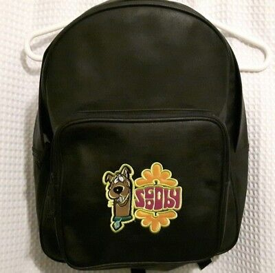 NWOT Cartoon Network Scooby Doo Black Backpack Rare Vegan Faux Leather