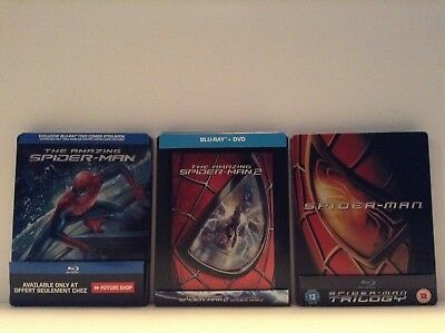 amazing spiderman 1 & 2 + Spiderman 1-3 :3 limited edition steelbook [Blu-ray]