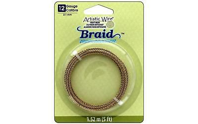 Artistic Wire Braid 12Ga 2.1mm Tarnish Brass 5ft