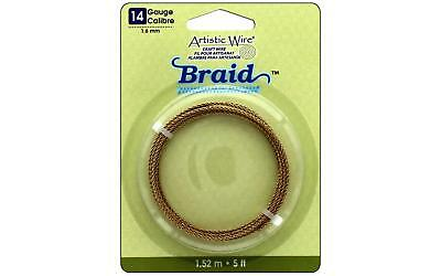 Artistic Wire Braid 14Ga 1.6mm Tarnish Brass 5ft