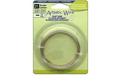 Artistic Wire Flat 21Ga 5mm Tarnish Silver 3ft