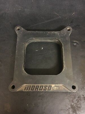 """Moroso 1"""" Plastic Open Spacer 64940 4 Hole  Carb Spacer"""