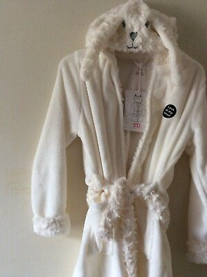 b59257e86f Primark Girls Bunny Rabbit Hooded Dressing Gown Bath Robe Age 7-8 Yrs NEW!