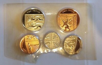 Royal Mint 2010 - BU Small Coins 1p 2p 5p 10p and  20p Brilliant Uncirculated