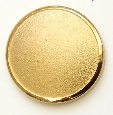 9 CT Gold PLAIN DOMED GILT Holland & Sherry  Buttons  Gift for Men