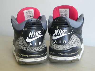 new concept 00af2 3ef8a 2001 BLACK CEMENT 3 Nike Air Jordan III vintage og CUSTOM