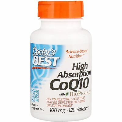 Doctor's Best High Absorption CoQ10 with BioPerine 100mg 120 Softgels