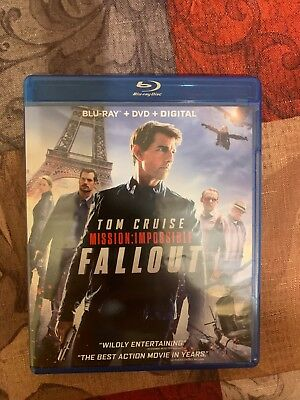 Mission Impossible: Fallout Blu Ray DVD no Digital Tom Cruise MI6 rogue nation