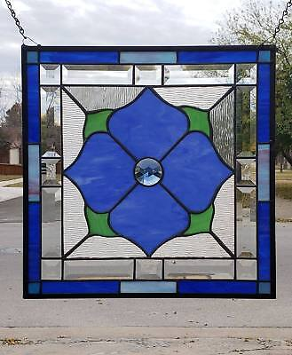 • Princess  •• Steal Deal • -50 % off Beveled Stained Glass Window Panel • 17 ½""