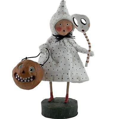 Lori Mitchell Halloween Polk-a-Dottie Boo Ghost Folk Art Figure Figurine Resin