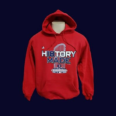Boston Red Sox Hooded Sweatshirt 2018 WORLD SERIES RED Hoodie  *HISTORY MADE*