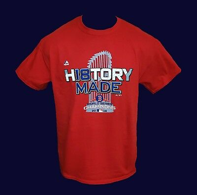 Boston Red Sox 2018 WORLD SERIES RED T-SHIRT - *HISTORY MADE*