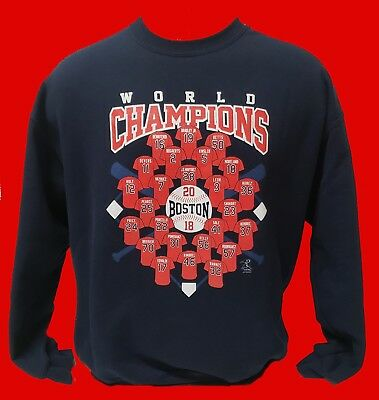 Boston Red Sox 2018 WORLD SERIES PLAYERS NAVY BLUE MENS CREW NECK SWEATSHIRT
