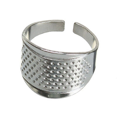 Silver Thimble Ring Hand Sewing Quilting Stitch Finger Protector DIY Craft Tool