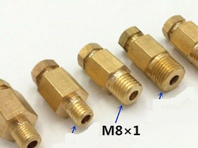 Auto Lube Grease M8 Lubrication Brass oil Pipe Fitting 4mm Tube Compression STR