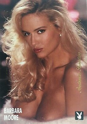 Barbara Moore Playboy Playmate 12/92 Large Authentic Signature Card - Signed