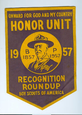 1957 Honor Unit Recognition Roundup felt banner 7 x 11""