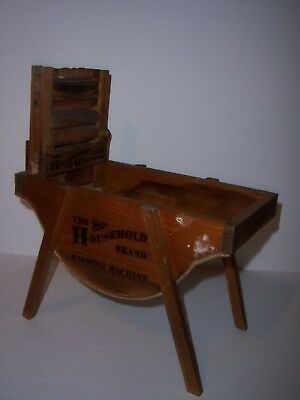 Wood Model Of An Antique Washing Machine