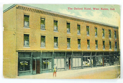 1912 The Oxford Hotel, West Baden, Indiana Antique Post Card