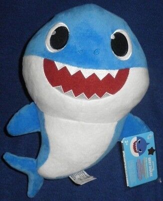 PINKFONG Baby Shark Official Singing Plush English DADDY BLUE SHARK IN STOCK