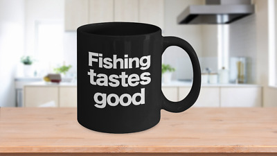 GONE MUSKY FISHING Mug White Coffee Cup Funny Gift for