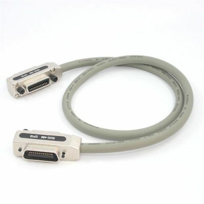 Heavy Duty Covered Cable IEEE-488 GPIB Cable Silver Gray With Metal Hood