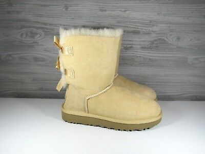 f7328734f72 UGG AUSTRALIA CHOCOLATE BAILEY BOW II SUEDE SHEEPSKIN BOOTS WOMENS ...