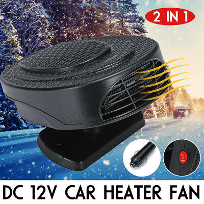 300W Car Portable 2 in 1 Ceramic Heating Cooling Heater Fan Defroster Demister