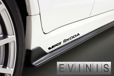 Skoda VRS 2x Side Skirt Stickers Car Decals Graphics DEFAULT BLACK