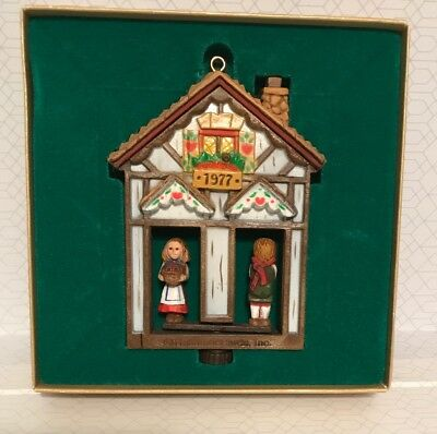 VINTAGE Hallmark Tree Trimmer Twirl-About Collection Weather House Ornament 1977