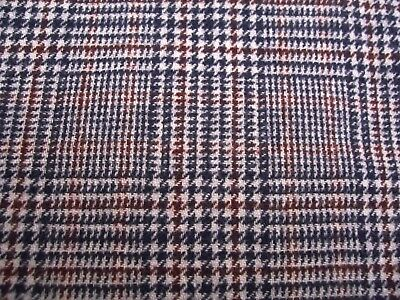 Pendleton 100% Wool Fabric Burgundy Navy Blue Gray Plaid Scarf Blanket Clothes
