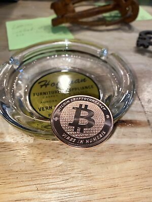 Bitcoin Crypto Coin BU Solid 1oz Ounce Gold Finish Cryptocurrency BTC 2013