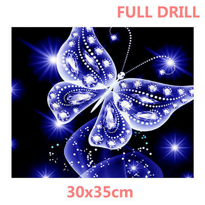 AU Full Drill Crystal Butterfly 5D Diamond Painting Embroidery Cross Stitch WZ