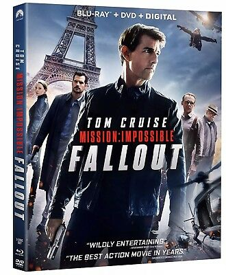 Mission: Impossible Fallout Bluray/DVD/Digital Tom Cruise Henry Cavill Free Ship