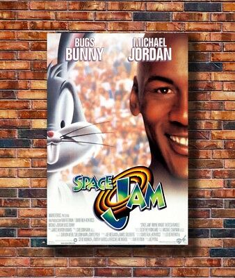 Hot Fabric Poster SPACE JAM MOVIE POSTER 1 Sided RARE ORIGINAL Rolled Z1657