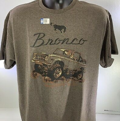 T-Shirt w/ Ford Bronco 1st Generation 1966-77 Logo / Emblem (Licensed)