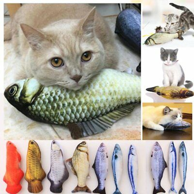 Pet Cat Play Fish Shape Mint Catnip Chewing Kids Gifts Interactive Scratch Toy&G