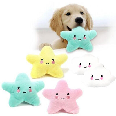 Puppy Pet Dog  Star Shape Toys Funny Chew Squeaker Squeaky Plush Play Sound Toy