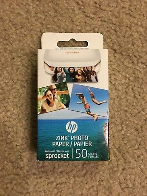 HP ZINK Photo Paper for HP Sprocket Photo Printer 1 Box of 50 Sheets