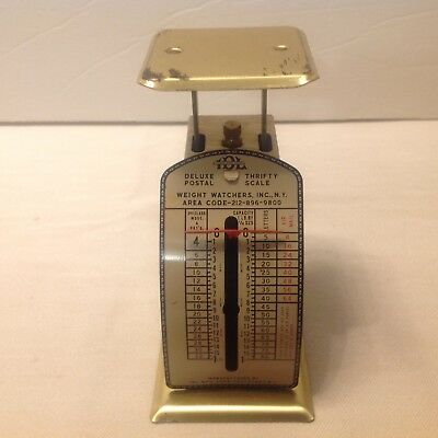Vintage I D L Mfg Deluxe Thrifty Postal Collectible Small 1 Pound Postage Scale