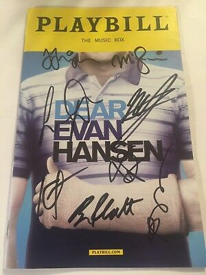 Dear Evan Hansen Cast Signed Playbill