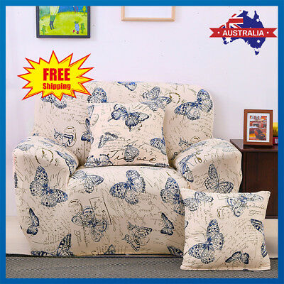 Easy Fit Stretch Sofa Cover Couch Lounge Recliner Cushion Slipcover Protector