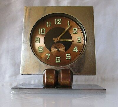 Lovely Quality Vintage Stainless Steel Alarm Clock from UNKNOWN MAKER