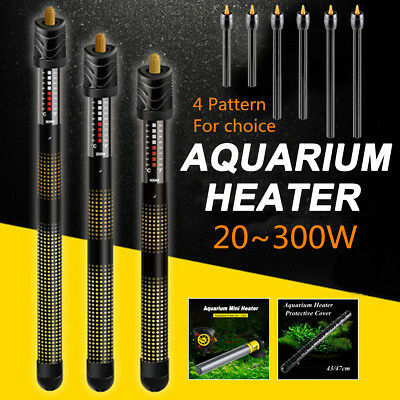 20-300W Aquarium Water Submersible Heater Protective Cover Automatic Thermostat