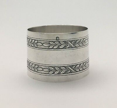 A Superb French Acid Etched Sterling Silver Napkin Ring LOUIS COIGNET1889 Paris