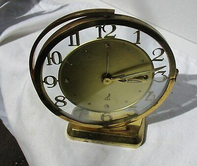 Lovely Brass and Glass Swing Arm Alarm Clock from JAZ