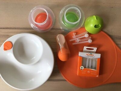 Lansinoh mOmma feeding weaning set, sippy cup, warm bowl, mat, spoon