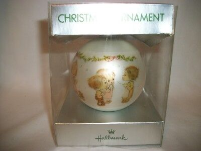 1974 Hallmark Betsey Clark MUSICIANS w/ INSTRUMENT Glass Ball Christmas Ornament