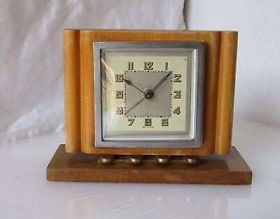 Beautiful Timber Art Deco Alarm Clock from UNKNOWN MAKER