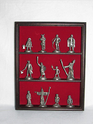 """lord Of The Rings"" 1979 Elan Merch 12 Pc Pewter Miniature Set With Display"